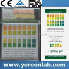 Test pH acido o alcalino liquido strisce 2.0-9.0 cartina FDA CE ISO