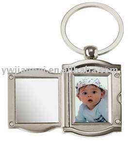High Quality Metal Photo Frame Keychain Keyrings