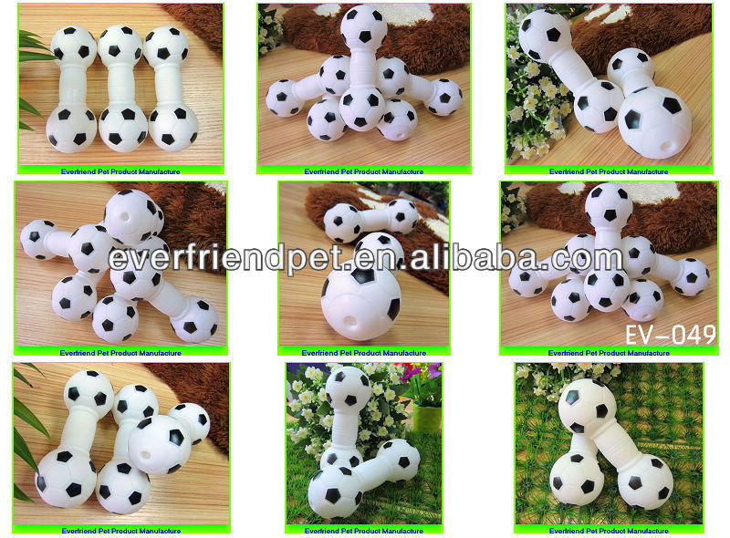 15.1cm Black & White Football Dumbbell pet products cat