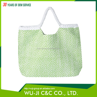 China made professional printed polyester straw beach bag