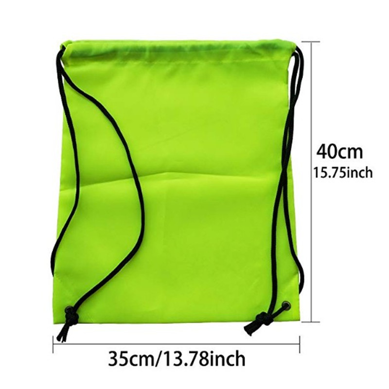 Promo custom print folding nylon drawstring bag backpack