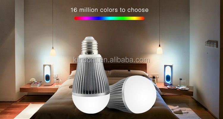 New RGBW LED light bulb, Smart RGB WIFI LED Bulb 5W 7W 9W AC85-265V 120degree