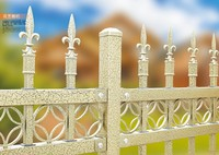 high security fence/ waterproof fence/ China supplier metal picket fence,cheap wrought iron fence panels for sale