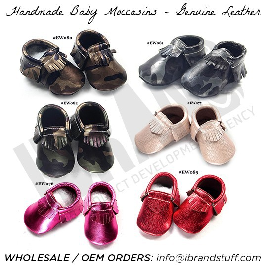 top quality baby moccasins, freshly picked genuine cow leather kids moccasins, 2016 OEM fashion style