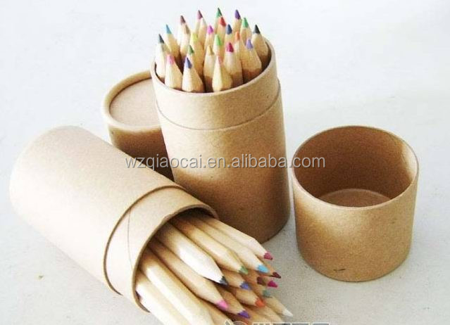 paper tube packaging for paint pencil brush