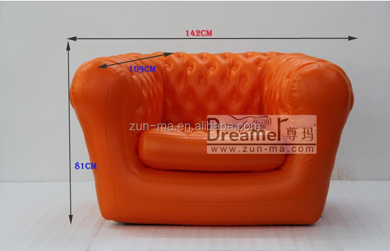 Inflatable chesterfield living room pvc leather sofas and home furniture