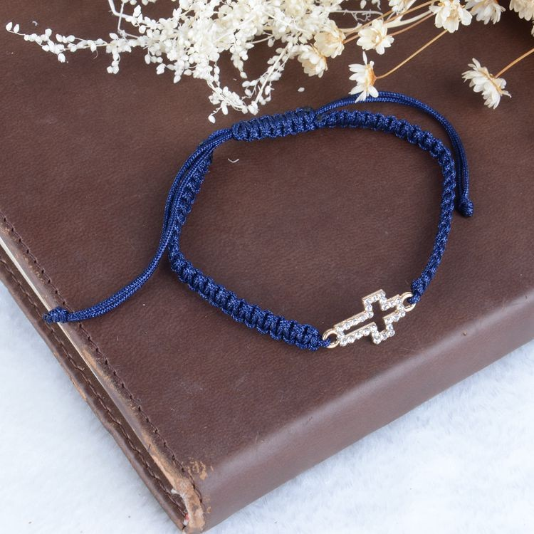 A&J Excellent after-sales service devotional cord bracelet;knotted cord bracelet;cross bracelet