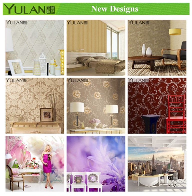 Vivid Flowers Design Non-woven Beautiful Wallpapers Home Decoration