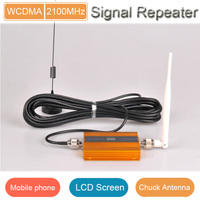 LCD display 5db outdoor antenna 3g cell phone signal repeater with 50 OHM outdoor coaxial cable-10m for Handphone