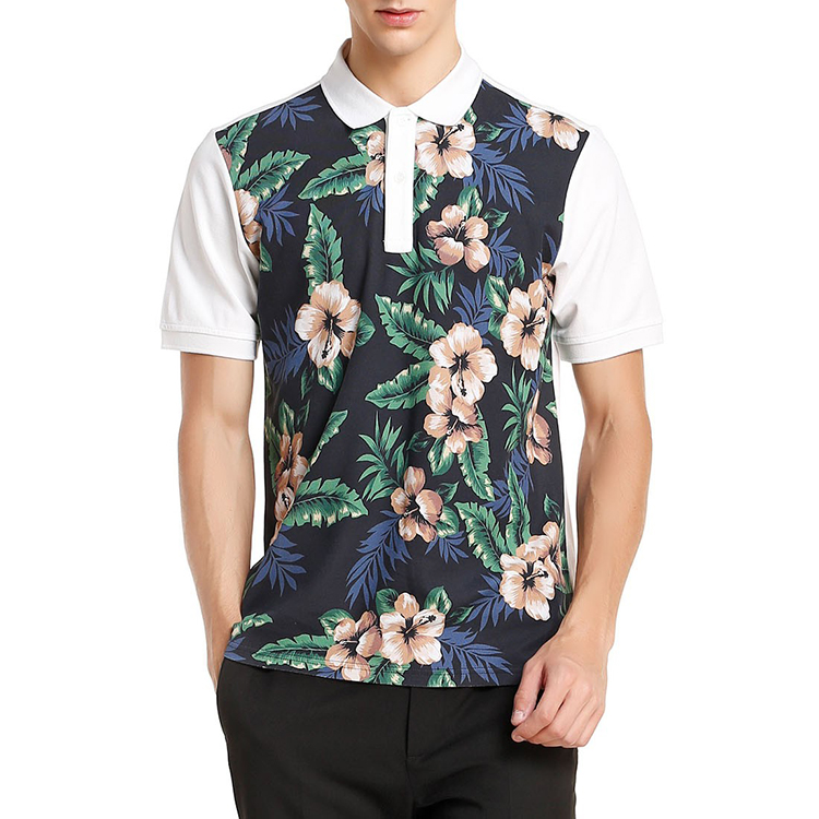 Brand Name Mens Clothing High Fashion Clothing All Over Print Men's Polo t shirts