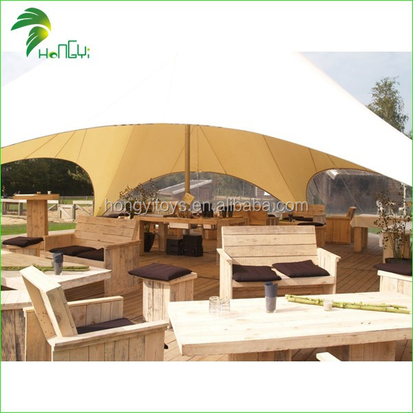 2016 Popular Pop Up Star Shape Tent , Custom Logo Printing Party Star Shelter Tent For Sale