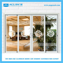 security exterior powder coated sliding door,4 panels sliding doors