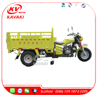 2016 China Powerful 200cc Cargo Motor Tricycle Three Wheel Motorcycle for Sale