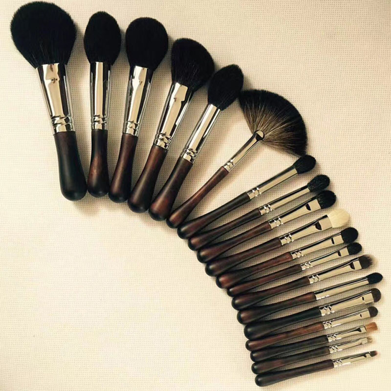 DAXINQI 19pcs top quality private label natural sable hair makeup brush set make-up brush