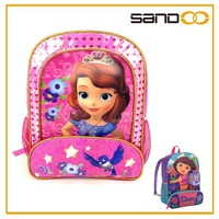 Wholesale lovely girl picture school bag, cheap kids school bags online