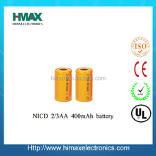2014 Shenzhen hot sale factory cheap 1.2v rechargeable 2/3aa nicd battery