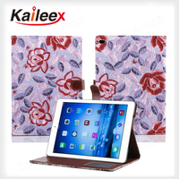 Wholesale Price Flower Pattern For Ipad Air2 Leather Wallet Case