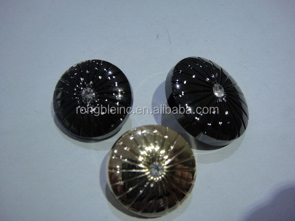 Top quality hot selling epoxy metal button in gold finish
