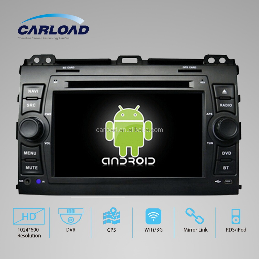 Quad Core Android 5.1 Touch Screen Car DVD Central Multimedia for 2014 Toyota prado 120