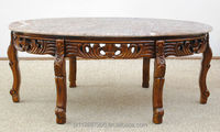 Coffee table solid wood + marble top 77746