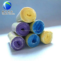various color disposable biodegradable plastic garbage/trash bag