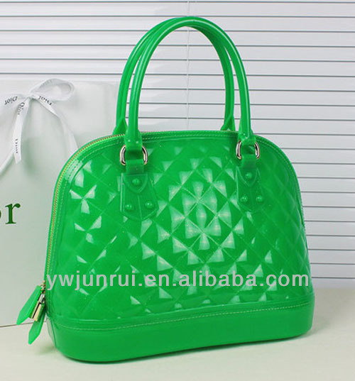 2014 nice fashion Silicone candy jelly Handbag/purse/pouch