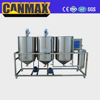 2017 high capacity small scale palm oil refining machinery/edible oil refining machines