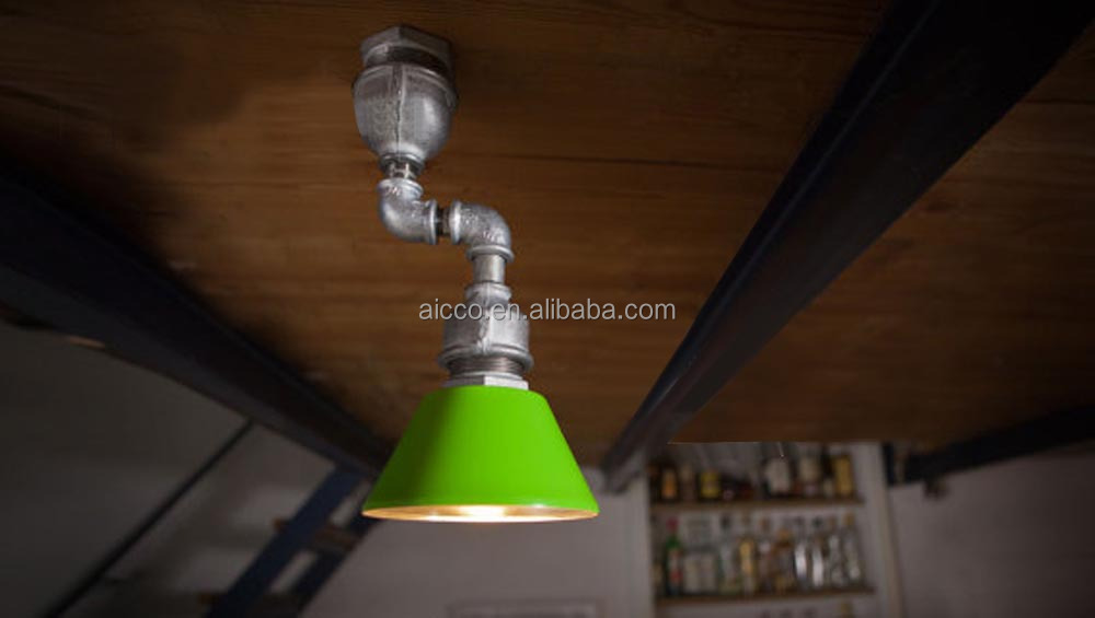 Decorative Light Vintage Industrial Pipe Wall Ceiling Lamp
