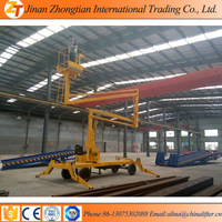 Diesel engine self-propelled articulated telescopic boom lift/arm sky lifter CE