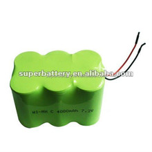 Rechargeable lithium battery Ni-MH 6V 4000mAh rechargeable battery packs for medical equipments