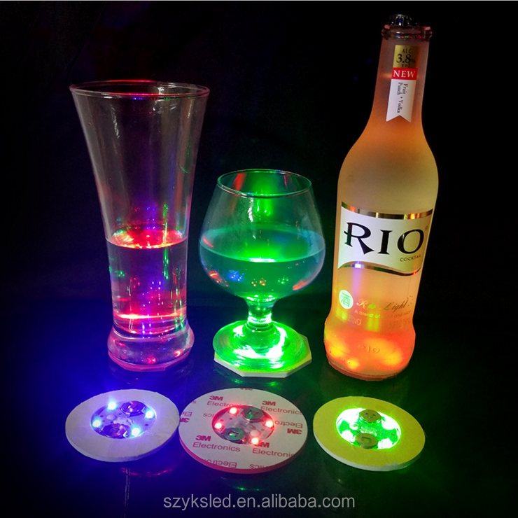 led sticker bottle Mini Led Bottle light Sticker 3M, led coaster for wine bottle led light drink coasters led bottle lights