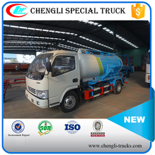 DONGFENG 4*2 3000L mini 95hp Sewage Vacuum Suction Truck Toilet Sucker Truck