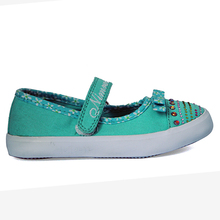 Girls Diamante Canvas Shoes