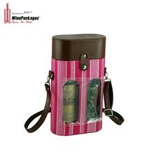 Wine package for two bottles leather wine carrier
