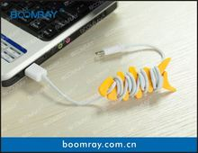 useful and cute cable headset connector glow in the dark silicone cell phone case