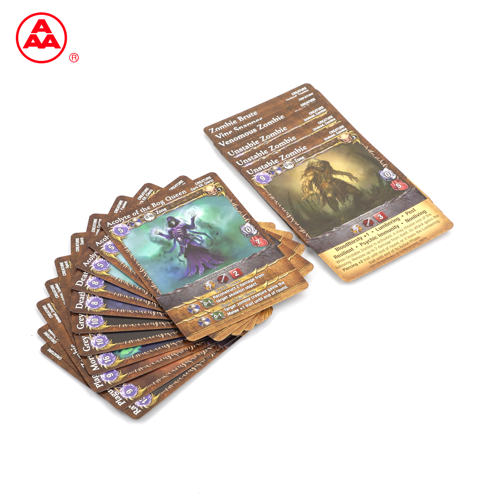 High Quality Popular Stronger Durable Adult Custom Trading Cards