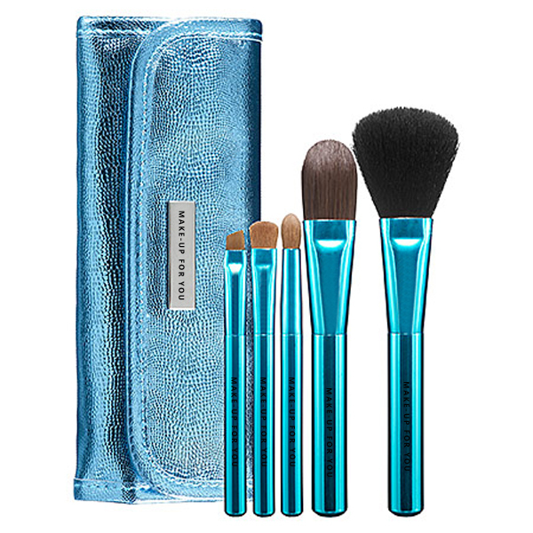 5pcs natural hair popular mini travel makeup brush set