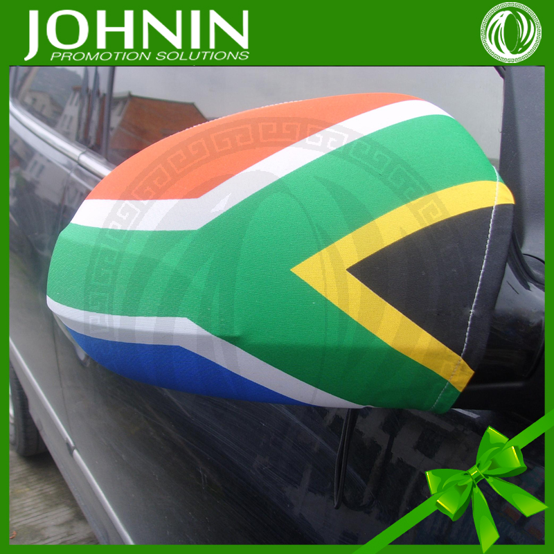 Hot Sale South Africa 30*32cm Polyester Car Mirror Cover Flag