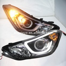 2013-2016 Year For Hyundai Elantra Avante LED Head Lights With Bi Xenon Projector Lens With DRL Function