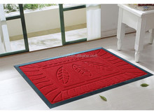 High Quality Anti Slip Entrance recycled rubber polyester Door Mat embossed floor mat