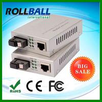A Pair of BIDI WDM Single Fiber 10/100/1000M 1310/1550 100km gigabit media converter