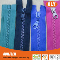 5# zipper hot selling products plastic zipper with open end zipper insert pin
