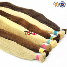 Wholesale cuticle no silicone virgin remy human hair european hair color