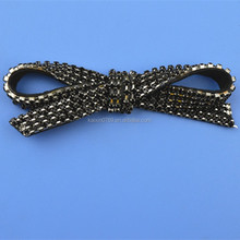 Wholesale shoes decoration metal bow tie removable shoes clips
