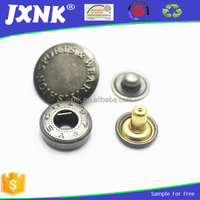 Custom made bulk butterfly style two parts of metal snap button