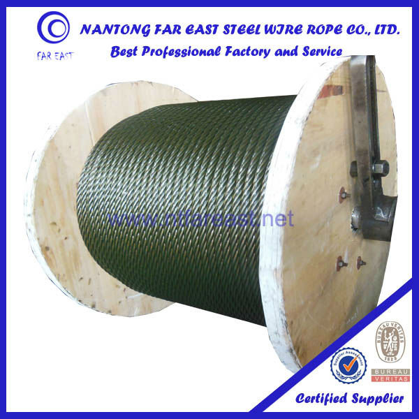 6*19w ungalvanized steel wire rope, steel cable; cable reel wire rope