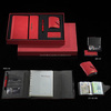 leather executive notebook notebook with pen and card holder, notebook and pen set
