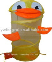 Duck mesh laundry hamper