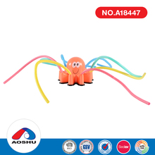 wholesale swimming pool bathtub water spray non-toxic octopus bath toy for child