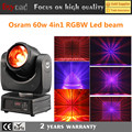 2017 new dj lighting 4in1 rgbw 60w beam led moving head with 16 channels
